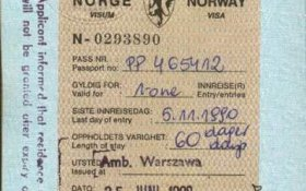 Norway – visa, 1990 post image