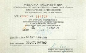old passport documents in Poland