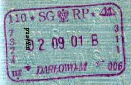 Poland – border stamp, 2001 post image