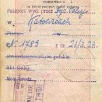 Poland – a notation in the passport, 1929 thumbnail