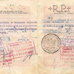 Poland – passport 1929, border stamps 1930-1932 thumbnail