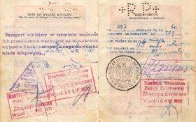 Poland – passport 1929, border stamps 1930-1932 post image