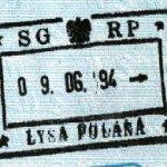 Poland – border stamp, 1994 thumbnail