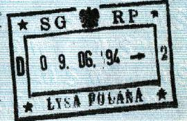 Poland – border stamp, 1994 post image