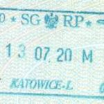 Poland – border stamp, 2000 (air) thumbnail