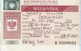 Poland – visa, 2001 post image