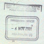 United Kingdom – stamp from Heathrow Airport, 2001 thumbnail