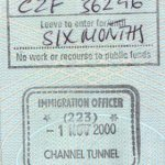 UK – border stamp, 2000 thumbnail