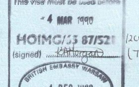 United Kingdom – visa, 1989 post image