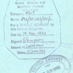 United Kingdom – visa, 1990 thumbnail