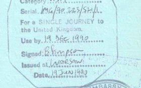 United Kingdom – visa, 1990 post image
