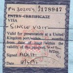 United Kingdom – visa, 1991 thumbnail