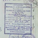 Albania – visa and stamp, 1995 thumbnail