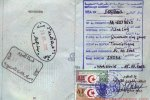 Algeria – passport stamps and visa, 2002