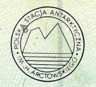 Antarctica – stamp from the Polish polar station