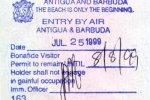 Antigua and Barbuda – border passport stamp, 1999