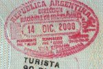 Argentina – border passport stamp, 2000
