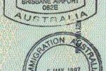 Australia – border stamps, 1997
