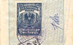 Austria – visa, 1929 post image