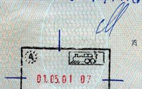 Austria – canceled stamp, review from a border, 2001 post image