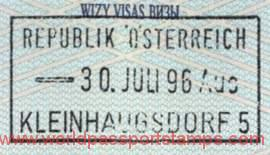 Austria – passport stamp, 1996 post image
