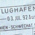 Austria – border stamp, 1992 thumbnail