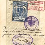 Austria – visa and border stamp, 1929 thumbnail