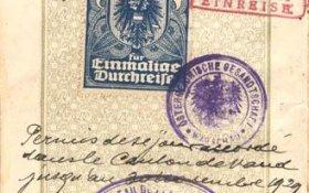 Austria – visa and border stamp, 1929 post image