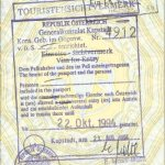 Austria – visa and stamp, 1994 thumbnail