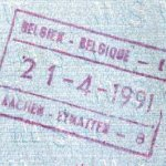 Belgium – stamp of border control, 1991 thumbnail