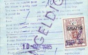 Belgium – visa, 1985 post image