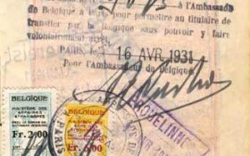 Belgium – visa and border stamp, 1931 post image