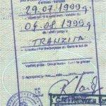 Bosnia and Herzegovina – transit visa, 1999 thumbnail