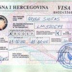Bosnia and Herzegovina – visa, 2000 thumbnail