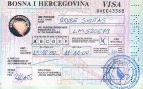 Bosnia and Herzegovina – visa, 2000 post image