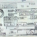 Bosnia and Herzegovina – transit visa, 2001 thumbnail
