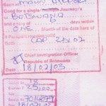 travels to Botswana