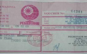 Belarus – travel voucher, 2003 post image