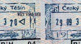 Czech Republic – stamps from border control in Cieszyn, 2003 post image