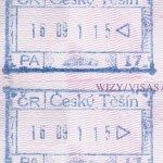 Czech Republic – stamps from border controls in Cieszyn (2001) thumbnail