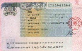 Czech Republic – visa, 2003 post image
