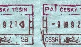 Cieszyn – border point of the Czechoslovak SSR, stamps 1989 post image