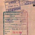 Czechoslovakia – visa and stamp, 1982 thumbnail