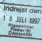 Denmark – passport stamp, 1997 (entry) thumbnail