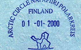 "Finland – anniversary stamp ""Arctic Circle"", 2000 post image"