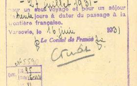 France – another kind of visa, 1931 post image