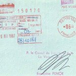 France – visa, 1987 thumbnail