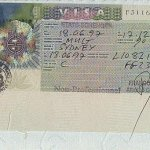 France – visa, issued in 1997 in Sydney thumbnail
