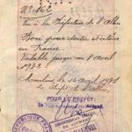 France – historic passport stamp, 1931 thumbnail