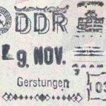 GDR – stamp of border control thumbnail